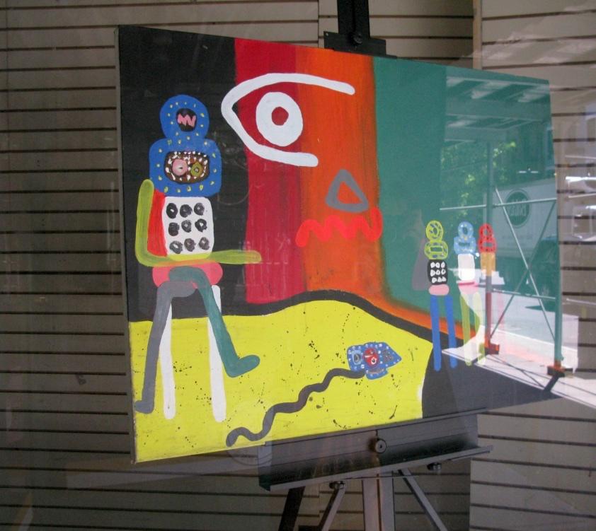 Painting in Window, Hudson Street, New York City